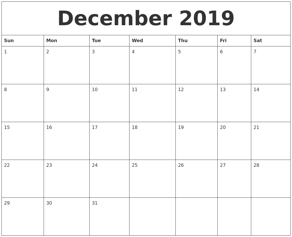January 2020 Free Printable Calendar With December 2020-January 2020 Calendar Waterproof