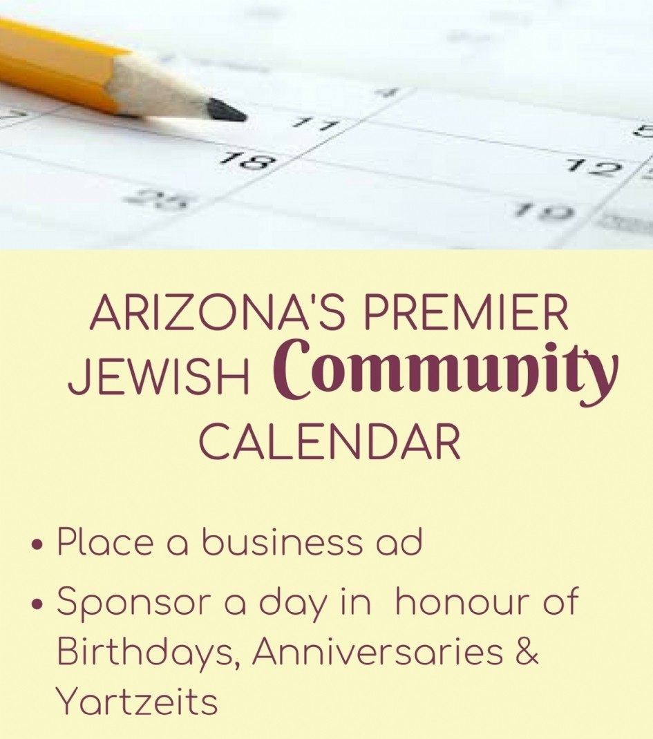 Jewish Calendar 5780 - Chabad Of Scottsdale Arizona-Printable Secular Calendar With Jewish Holidays