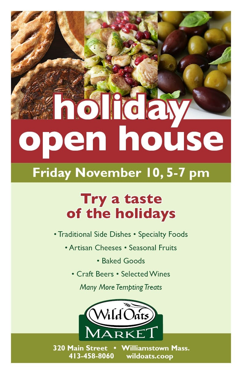Join Us For A Holiday Open House! - Wild Oats Market-Food Holidays In The U.s