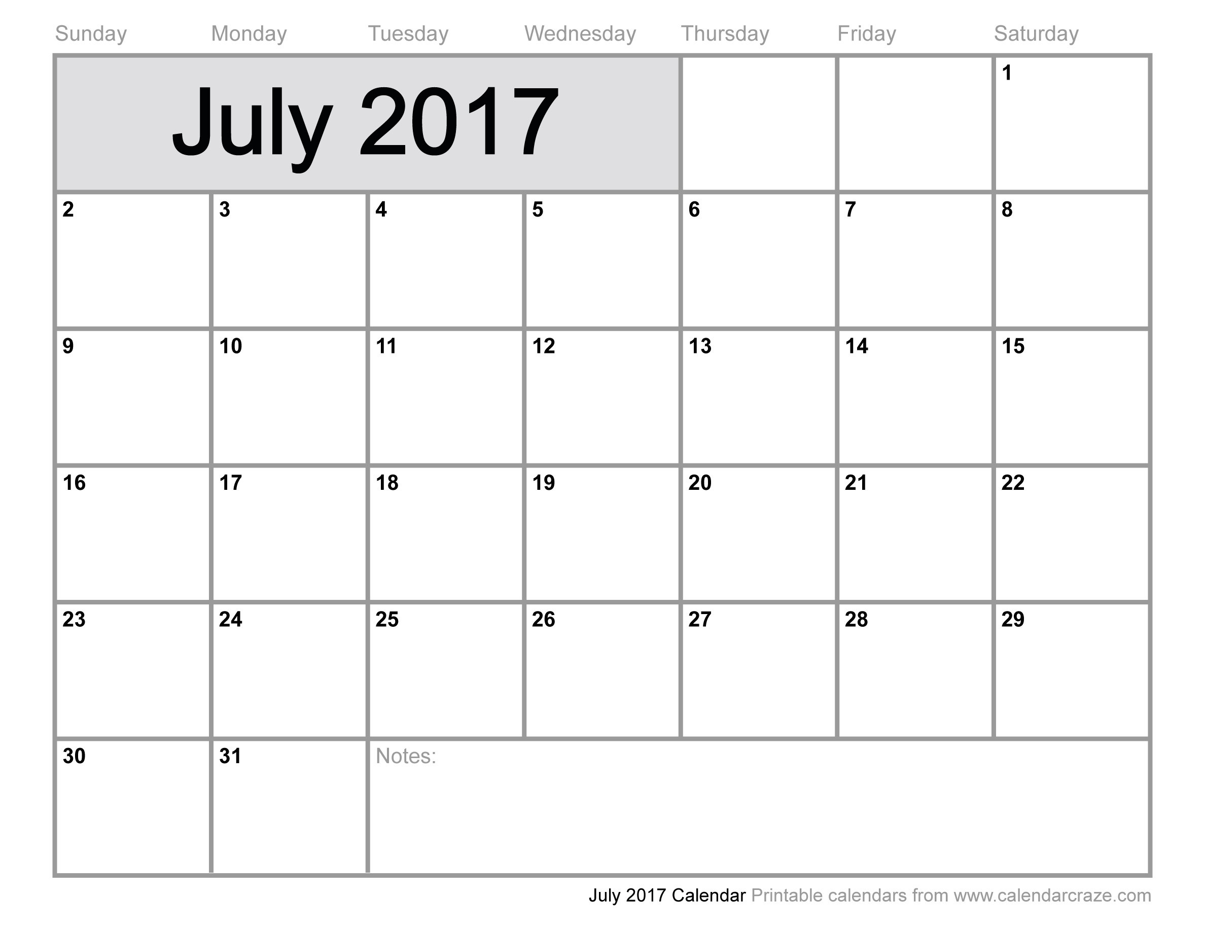 July Calendar Printable 2017 | Hauck Mansion-July And August Blank Schedule