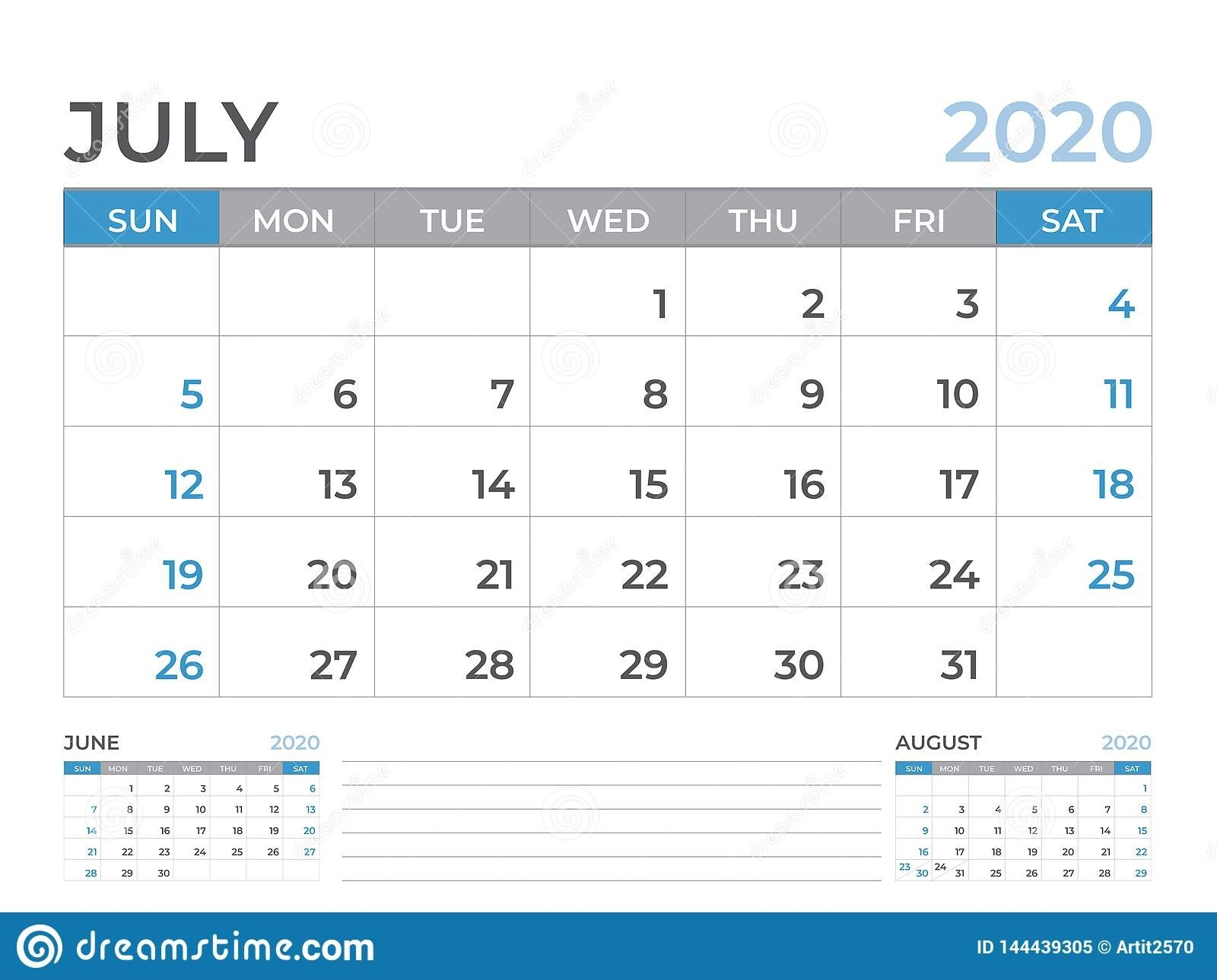 June 2020 Calendar Template, Desk Calendar Layout Size 8 X 6-Monday To Friday Planner Templates 2020