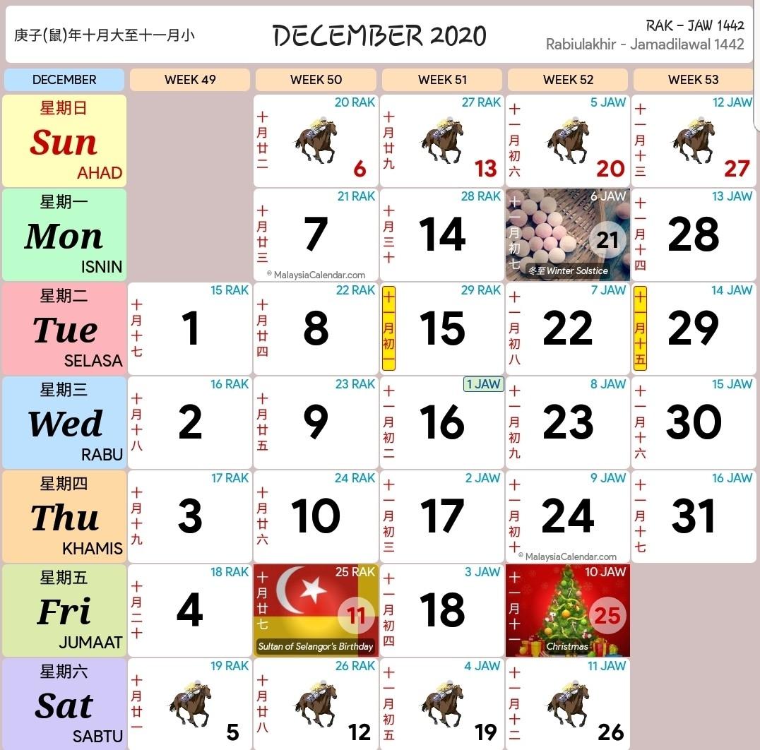 Kalendar 2020 Dan Cuti Sekolah 2020 - Rancang Percutian Anda-January 2020 Calendar Kuda