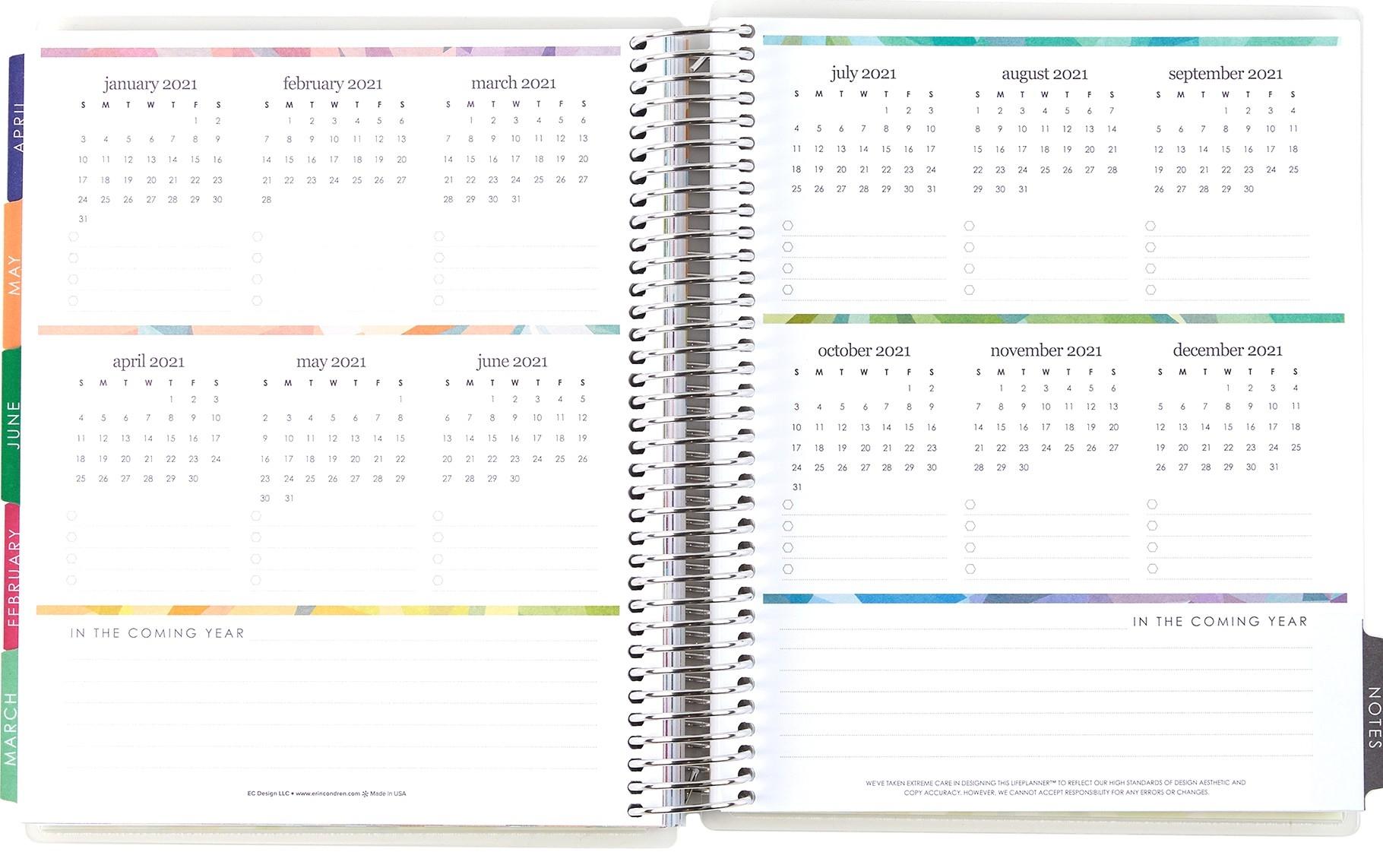 Large Monthly Planner | Deluxe Monthly Planners | Erin Condren-81/2 X 11 Printable Monthly Calendar 2020