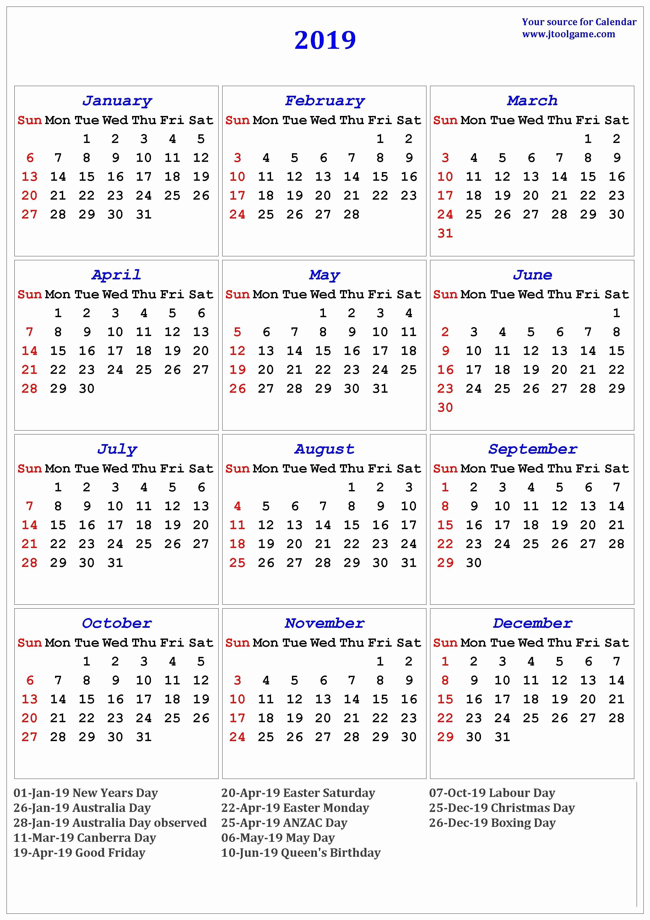 Lovely 35 Design Free Printable 2019 Calendars With National-Printable Maiyor Jewish Holidays Calendar