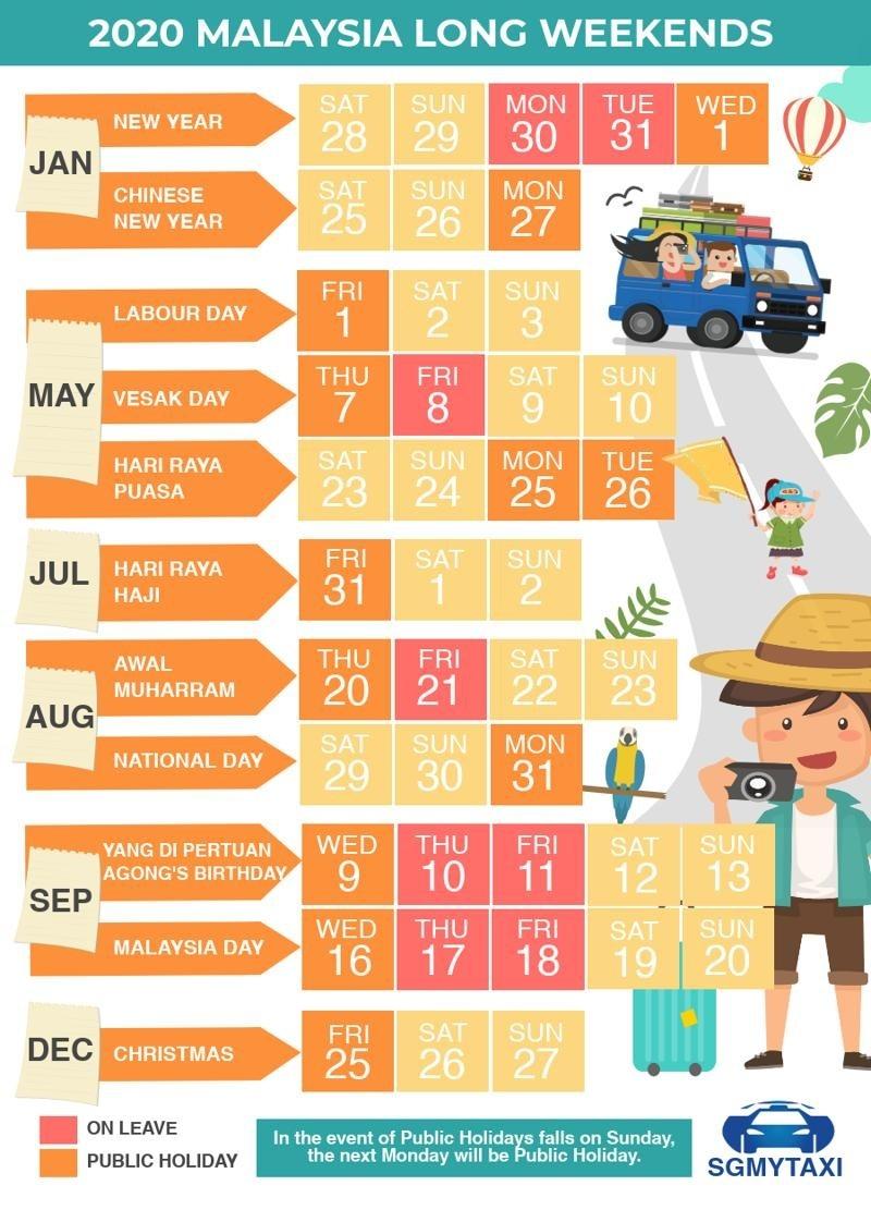 Malaysia Public Holidays 2019 & 2020 (24 Long Weekends)-Calendar 2020 School Holidays In Sarawak
