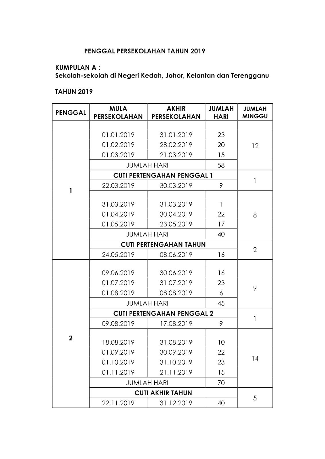 Malaysia School Holidays And Public Holidays 2019-Calendar 2020 School Holidays In Sarawak