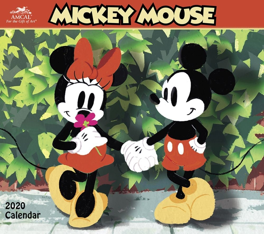 Mickey Mouse Classic 2020 Wall Calendar-Free Mickey Mouse Printable Monthly Calendar 2020