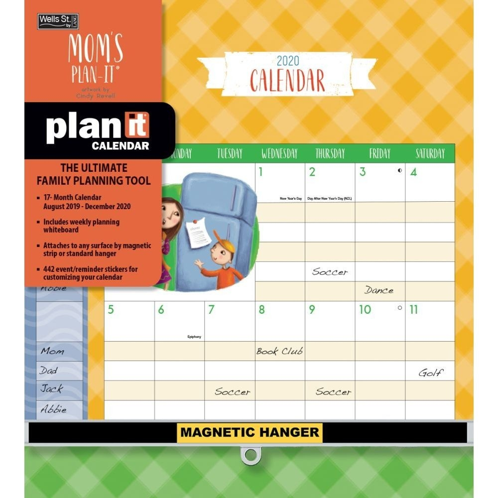 Moms Plan It Plus 2020 Wall Calendar-2020 Monthly Calendars With Time Slots