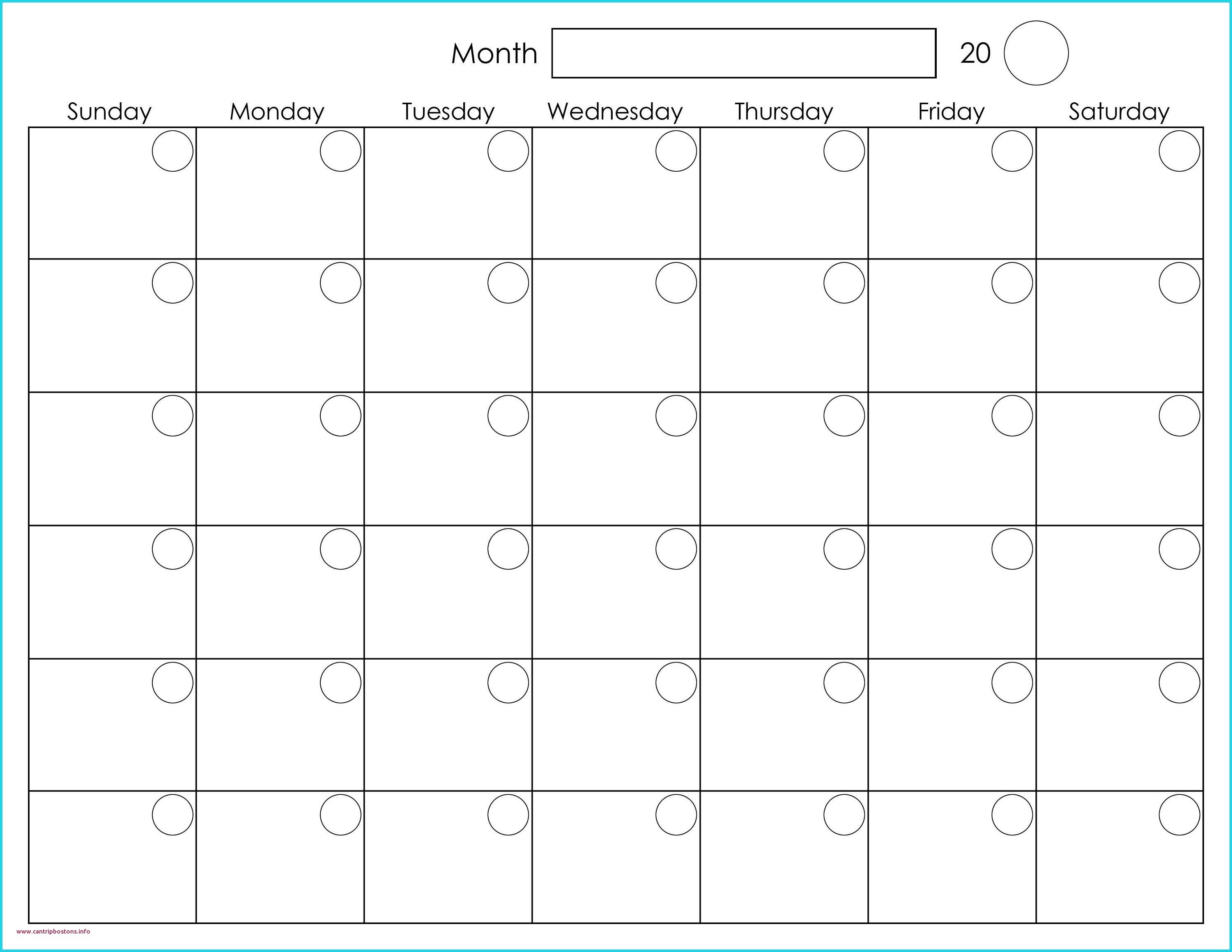Month At A Glance Blank Calendar Template Lovely Printable-Month At A Glance Blank Calendar Printable