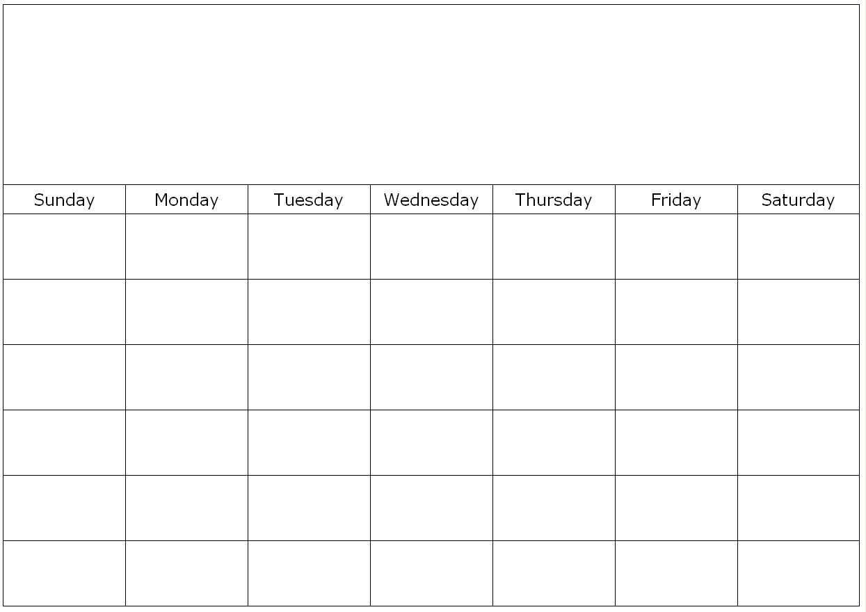 Monthly Blank Calendar Page-Blank Month Calendar Page