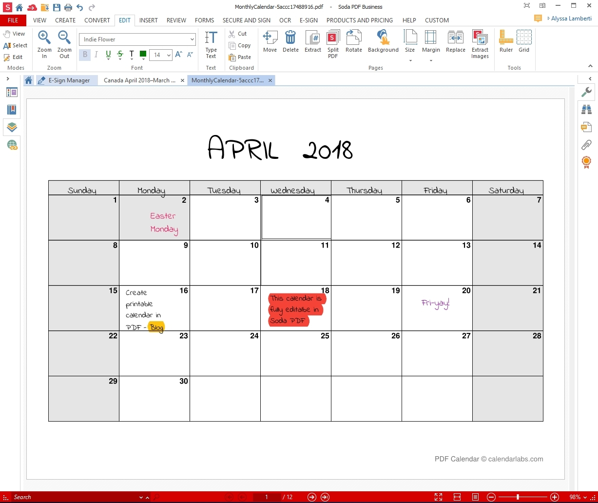 Monthly Calendar I Can Edit • Printable Blank Calendar Template-Printable Monthly Calendar That I Can Edit
