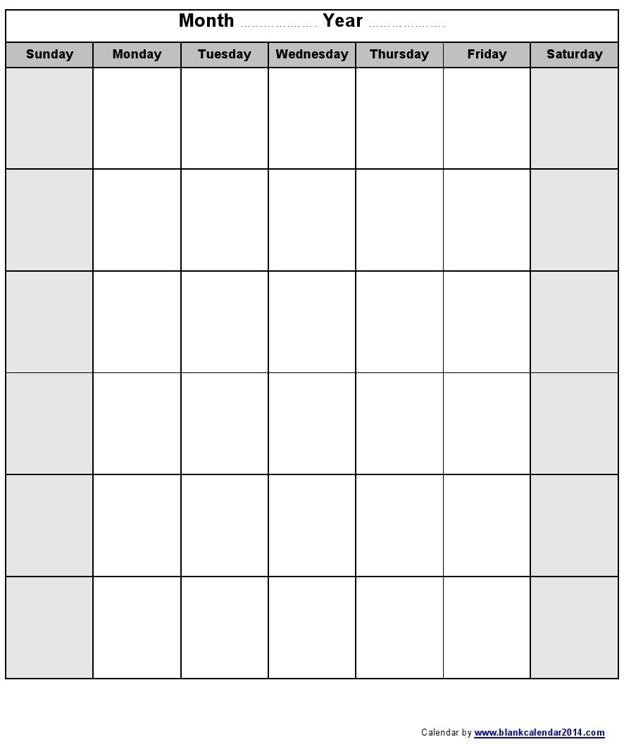 Monthly Calendar Monday To Friday • Printable Blank Calendar-Calendar Monday To Sunday Monthly