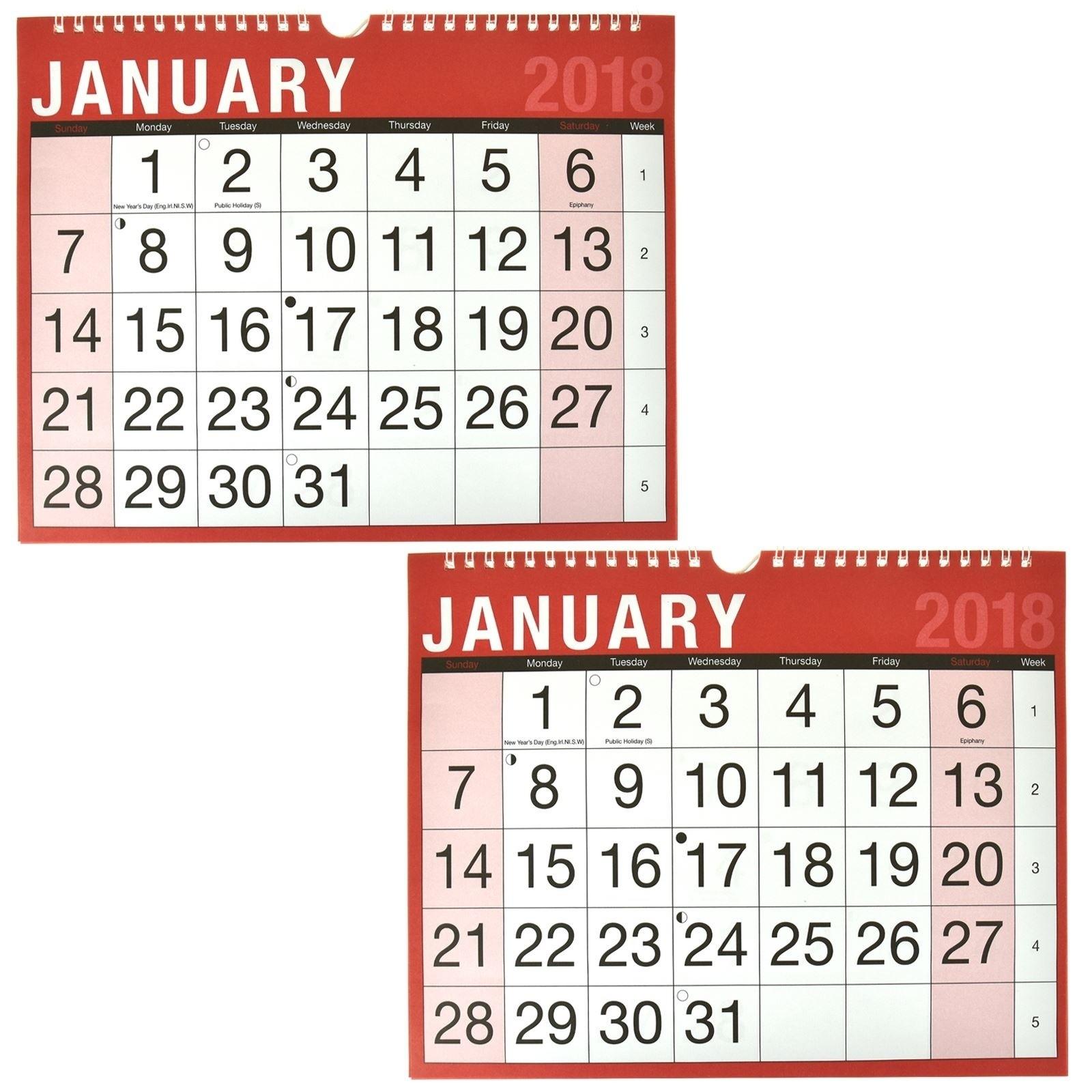 Monthly Calendar Spiral Bound • Printable Blank Calendar-Spiral Bound Monthly Calendar