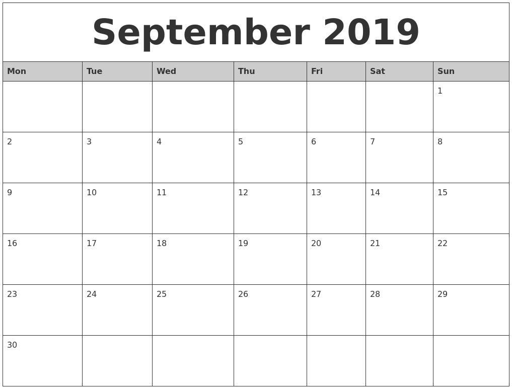 Monthly Calendar Uk 2019 • Printable Blank Calendar Template-Monthly Calendar Uk Printable