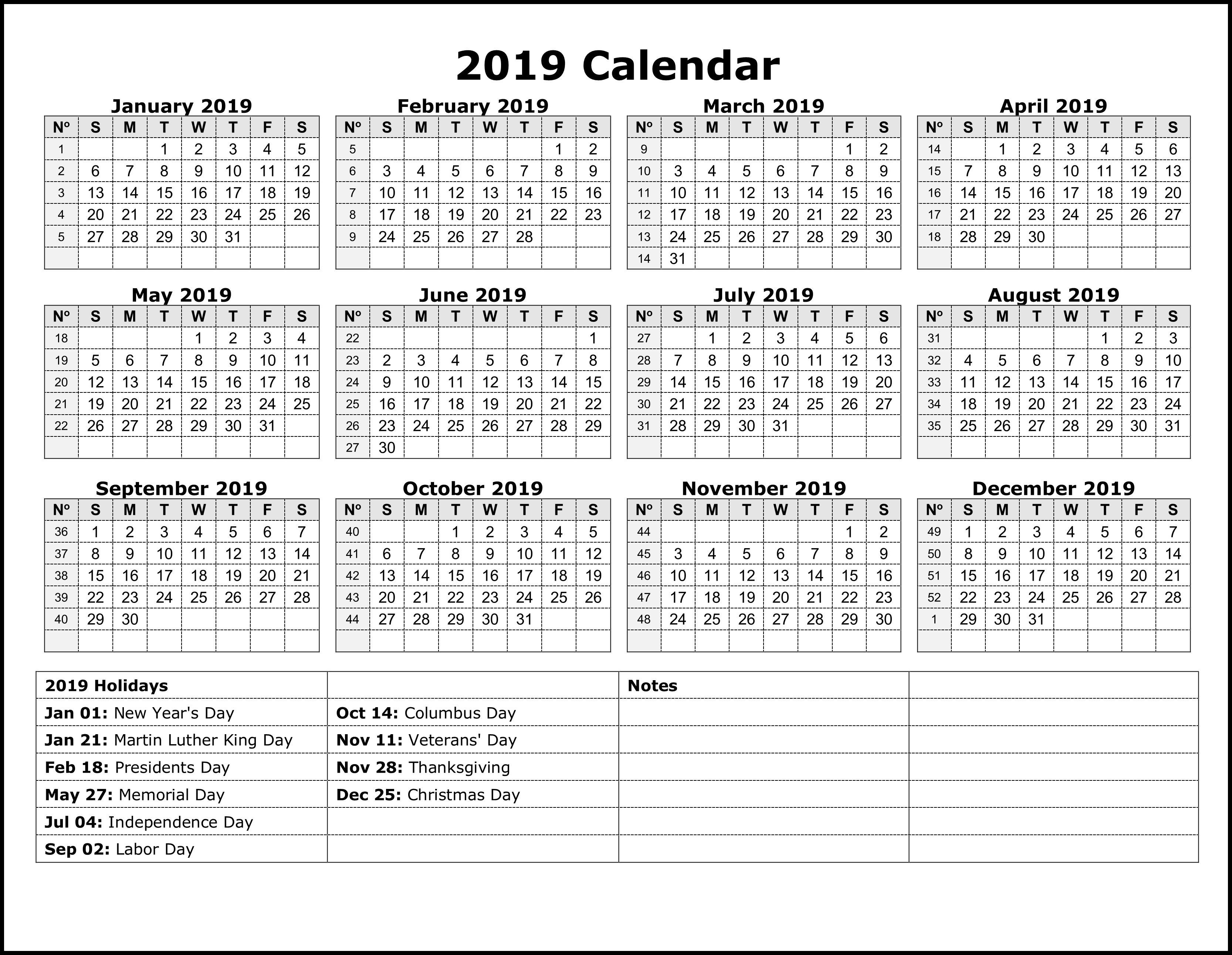National Holiday Calendar 2019 #calendar2019-Jamaica Public Holidays 2020 Printable