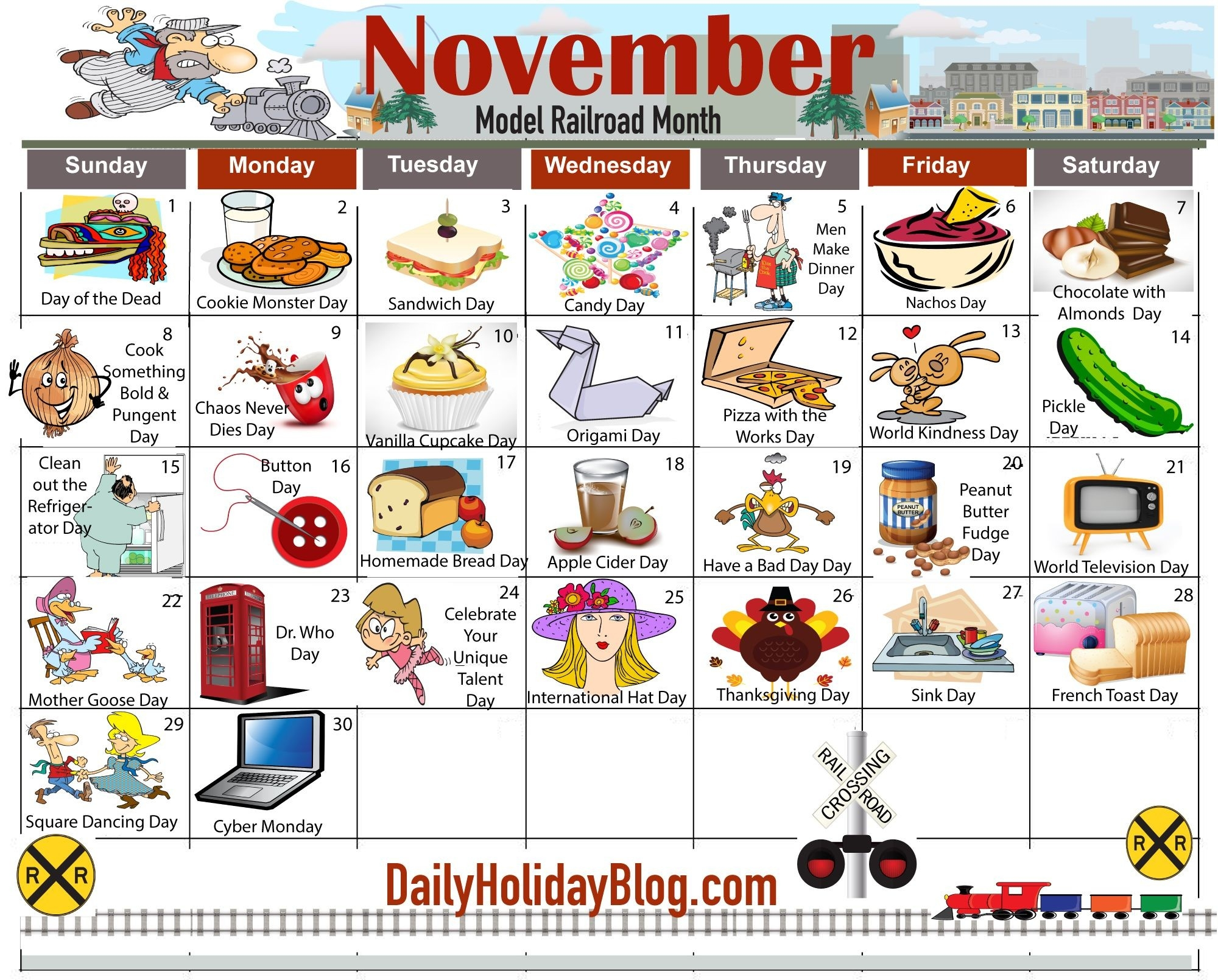 November Daily Holiday Calendar | New Holidays And-Calendar Holidays Special And Wacky Days