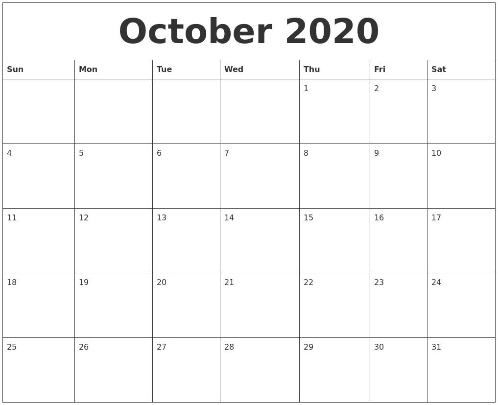 October 2020 Calendar | Thekpark-Hadong-Calendar Of Jewish Holidays October 2020