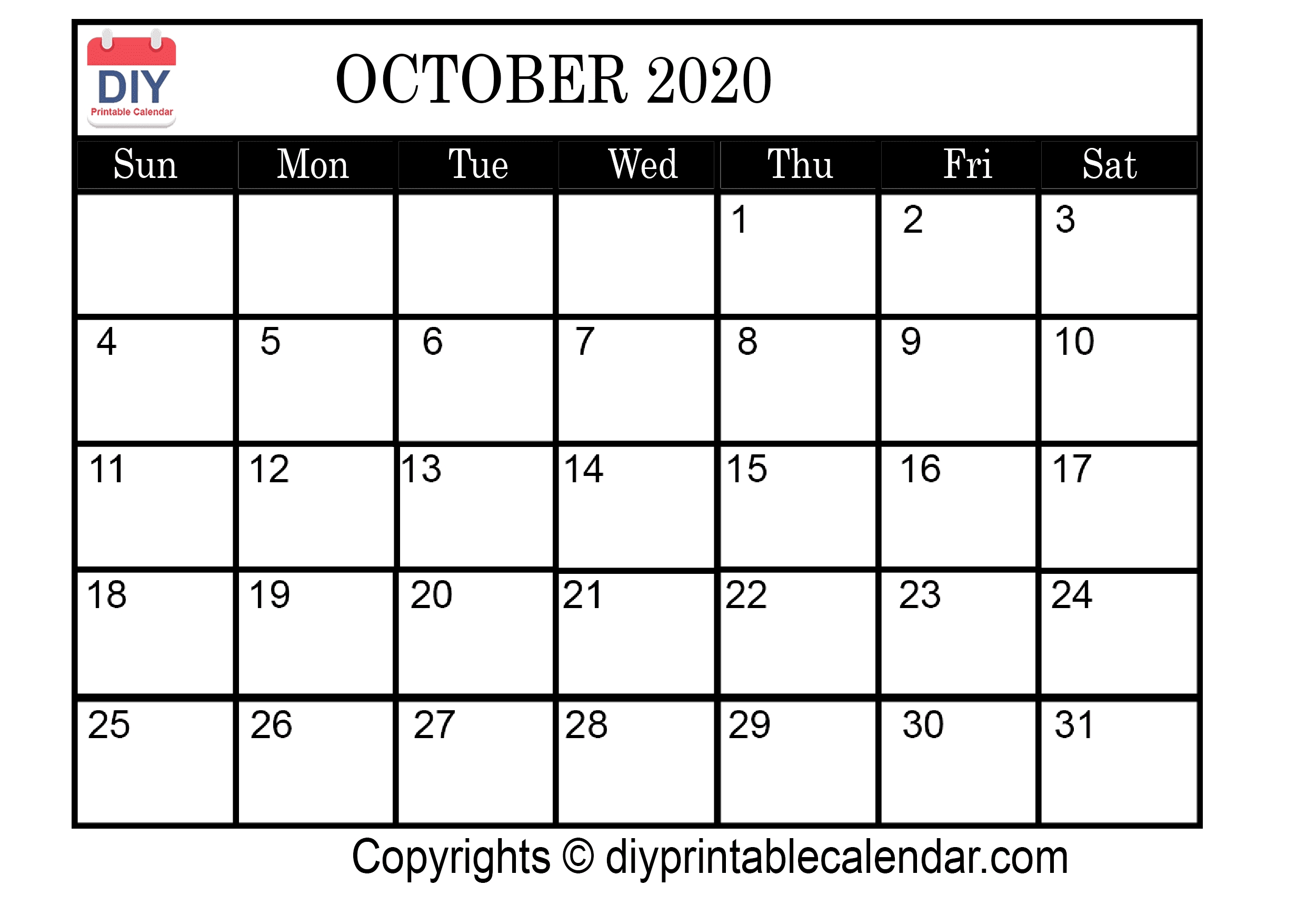 October 2020 Printable Calendar Template-2020 August September Octobercalendar Monthly