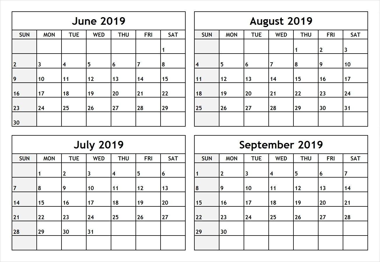 Pdf June July 2019 Calendar | June July 2019 Calendar | July-June July & August Blank Calendar