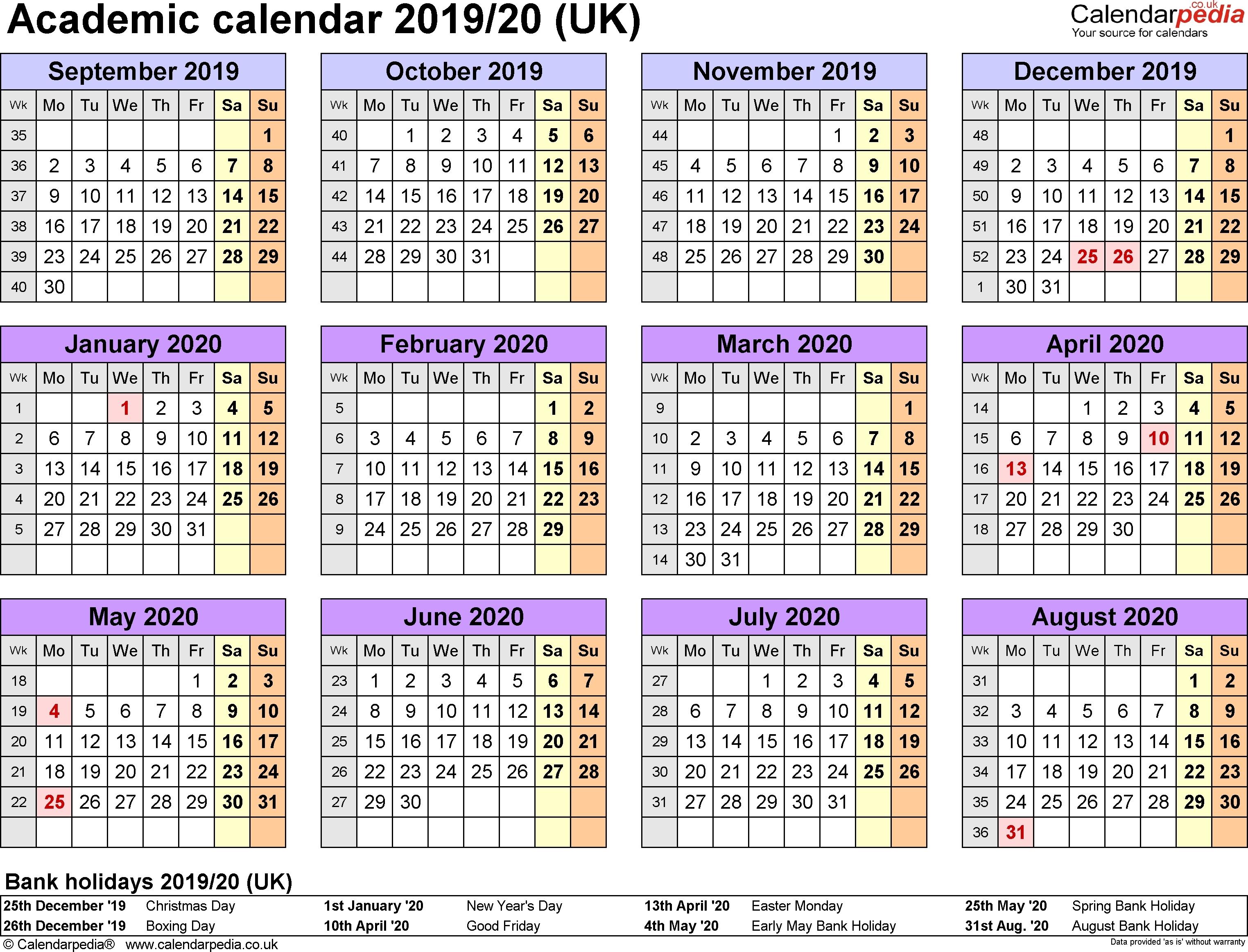 Perky 2020 Calendar Uk Bank Holidays • Printable Blank-2020 Calendar Including Bank Holidays