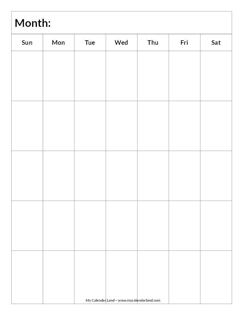 Pin By Lisa Trager On Kiddo | Blank Calendar, Printable-Template Printable Calendar 5 Weeks