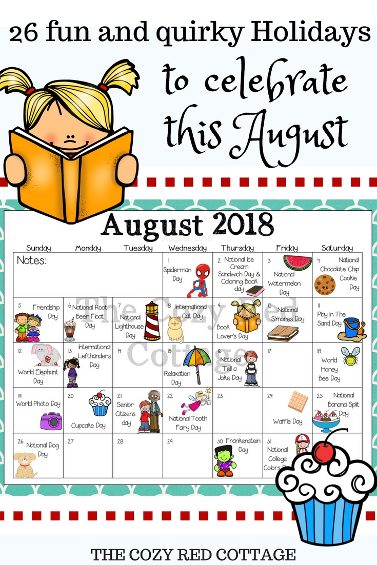 Pin By Tasha Maddox On Kids | August Holidays, Weird-Calendar Holidays Special And Wacky Days