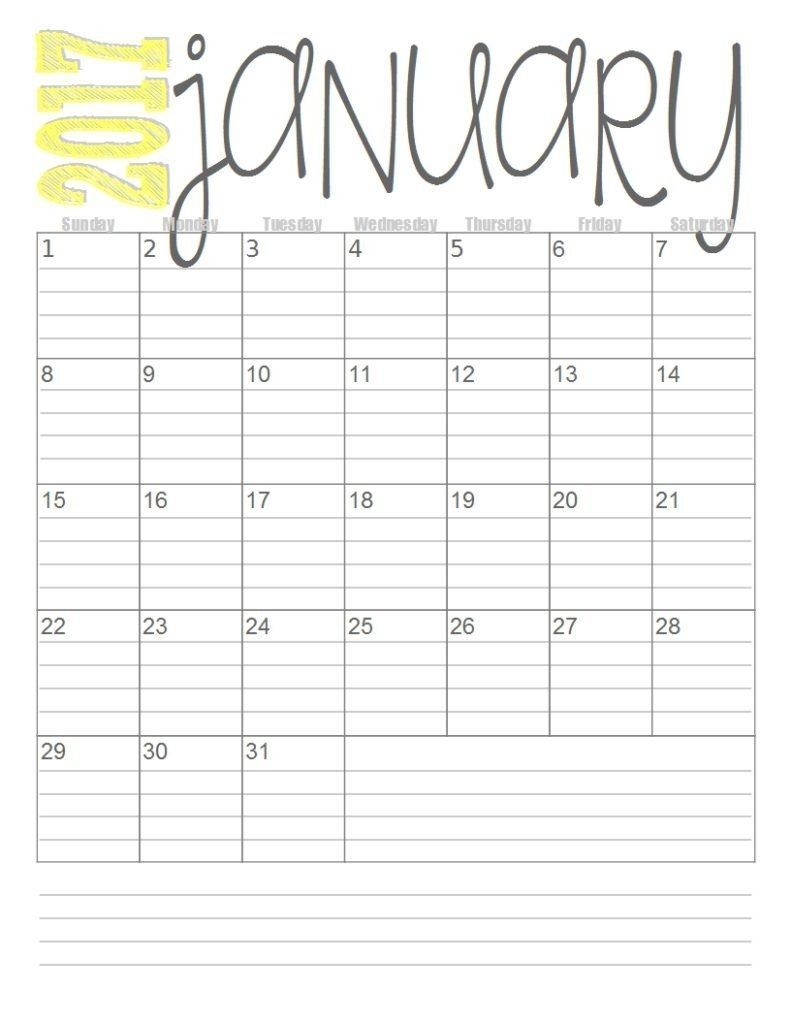 Print These Simple Lined Monthly Calendars For Free-Monthly Calender 2020 Organizer For Bills