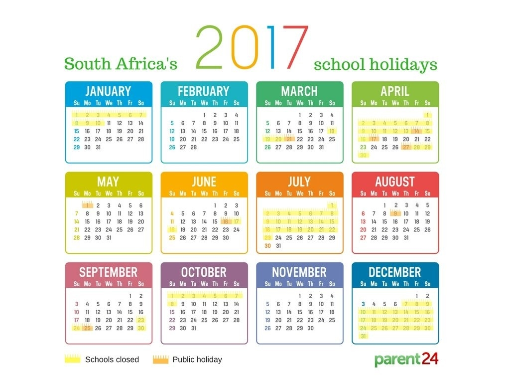 Printable: 2017 School Holidays In South Africa Calendar-Holidays In South Africa