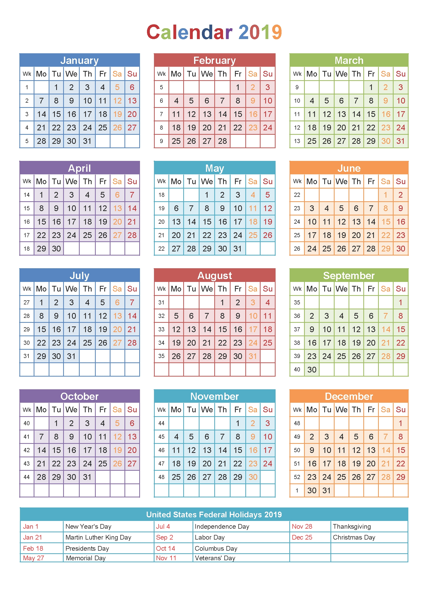 Printable 2019 Calendar With Holidays South Africa-Calendar Template South Africa