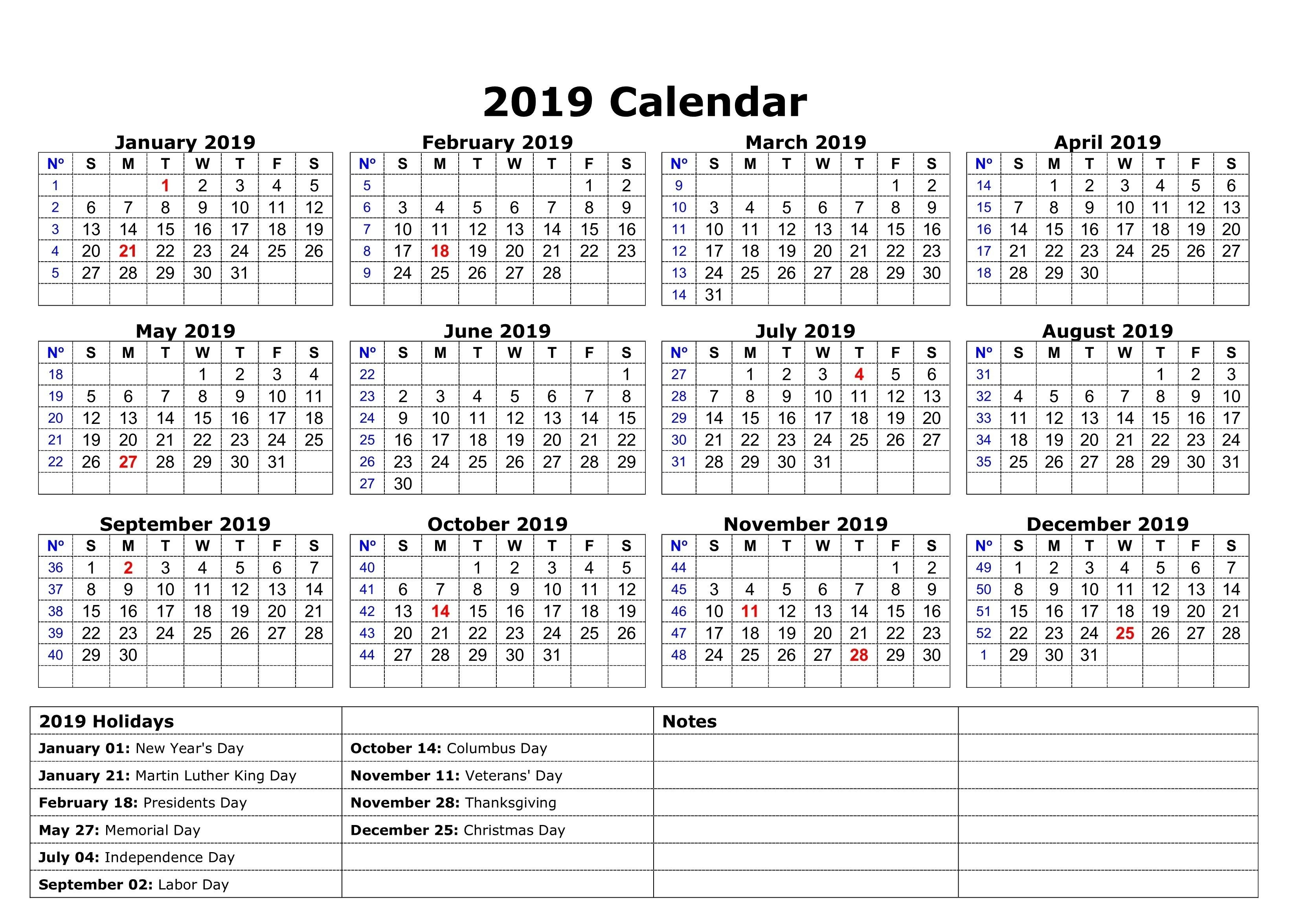 Printable 2019 Calendar With Holidays South Africa-Sa Calendar With Holidays