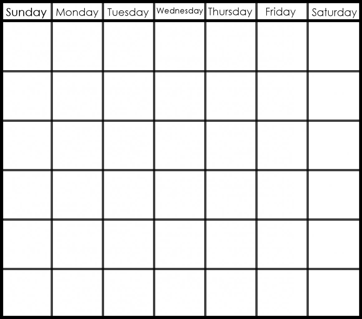 Printable 6 Week Calendar Printable 2 Week Calendar Planner-Blank 6 Week Calendar Template
