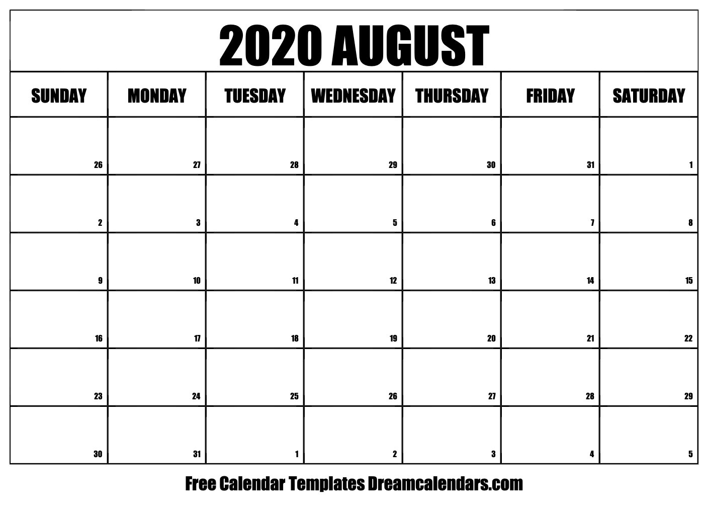 Printable August 2020 Calendar-January 2020 Calendar Kalnirnay