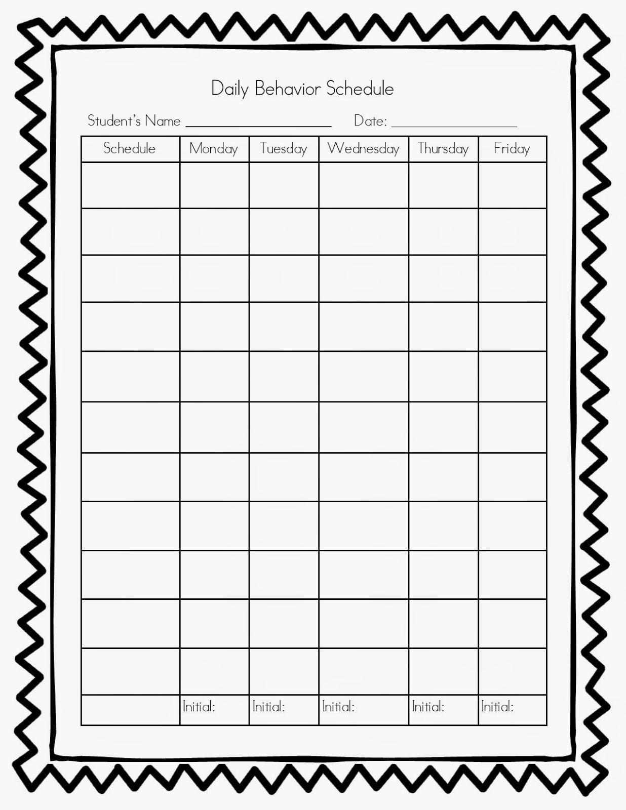Printable Behavior Calendar Inspirational Pretty Monthly-Monthly Behavior Calendar Template