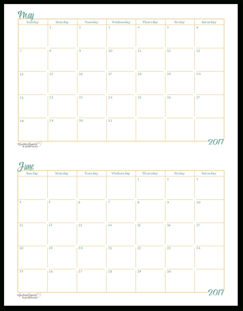 Printable Calendar 2018 Notebook Size | Printable Calendar 2019-Monthly Calendar Print Out For Notebooks