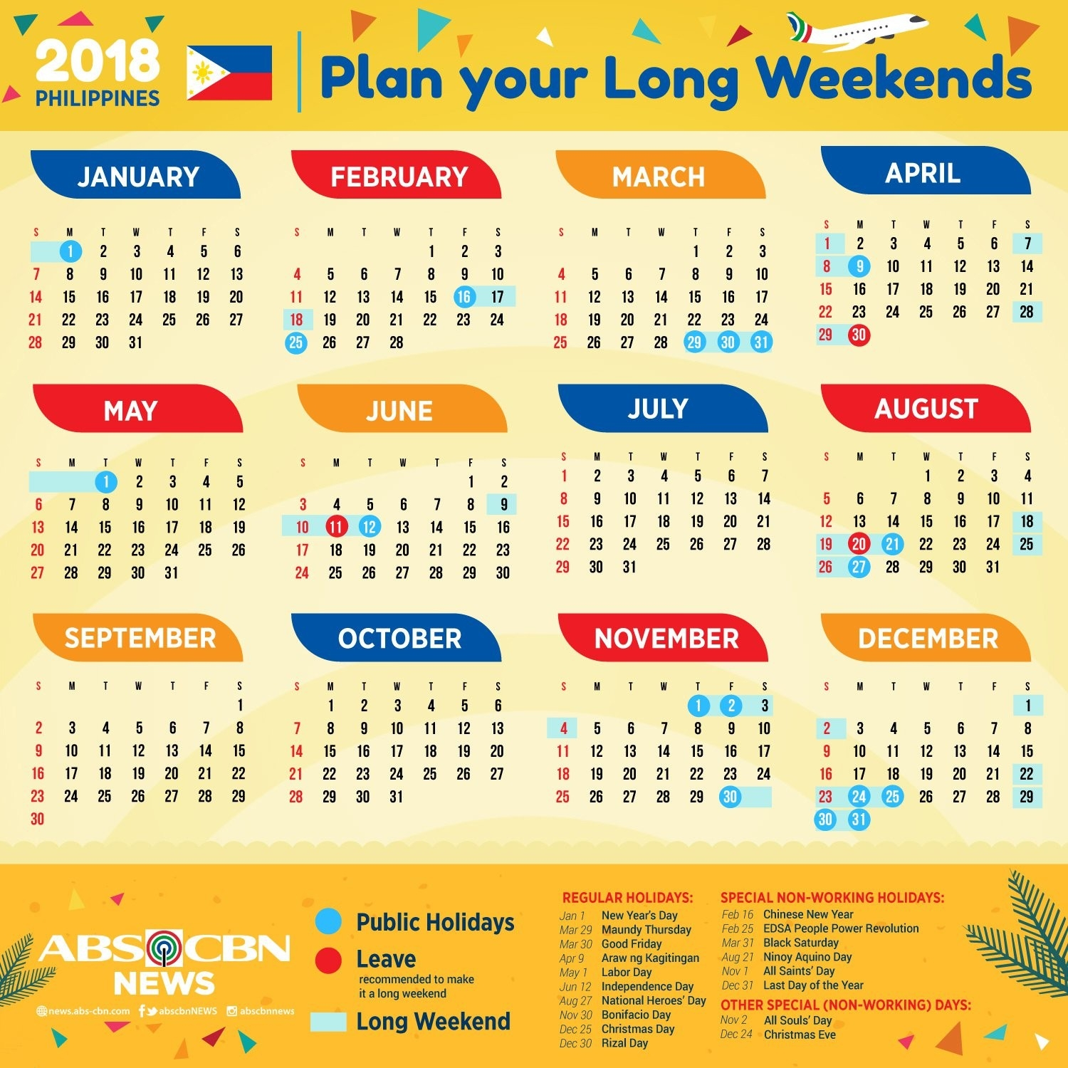 Printable Calendar 2018 With Holidays Philippines-Holidays In Philippines Printable