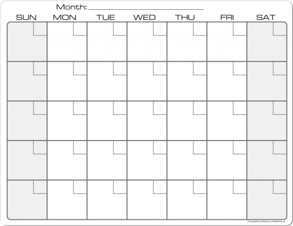 Printable Calendar 8 X 11 | Printable Calendar 2019-8.5 By 11 Blank Calendar Month