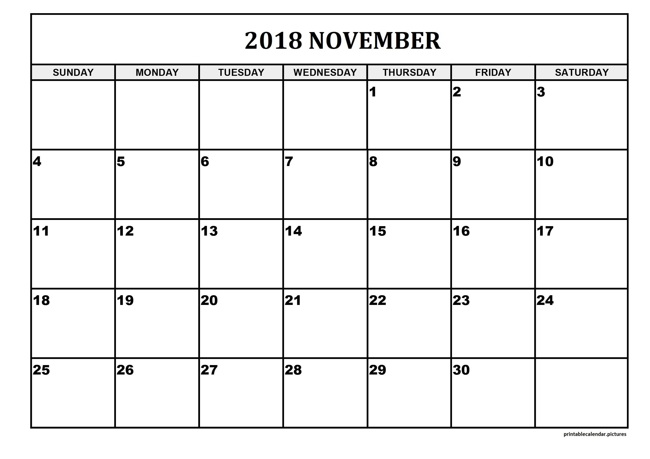 Printable Calendar Large Squares | Printable Calendar 2019-Blank Calandar With Big Squares
