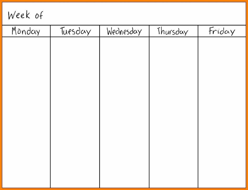 Printable Calendar Monday Through Sunday | Printable-Blank Monday Through Friday Calendar