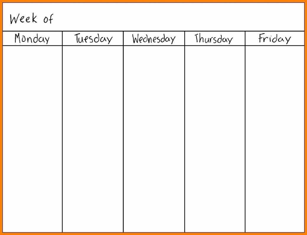Printable Calendar Monday Through Sunday | Printable-Monday Through Friday Template
