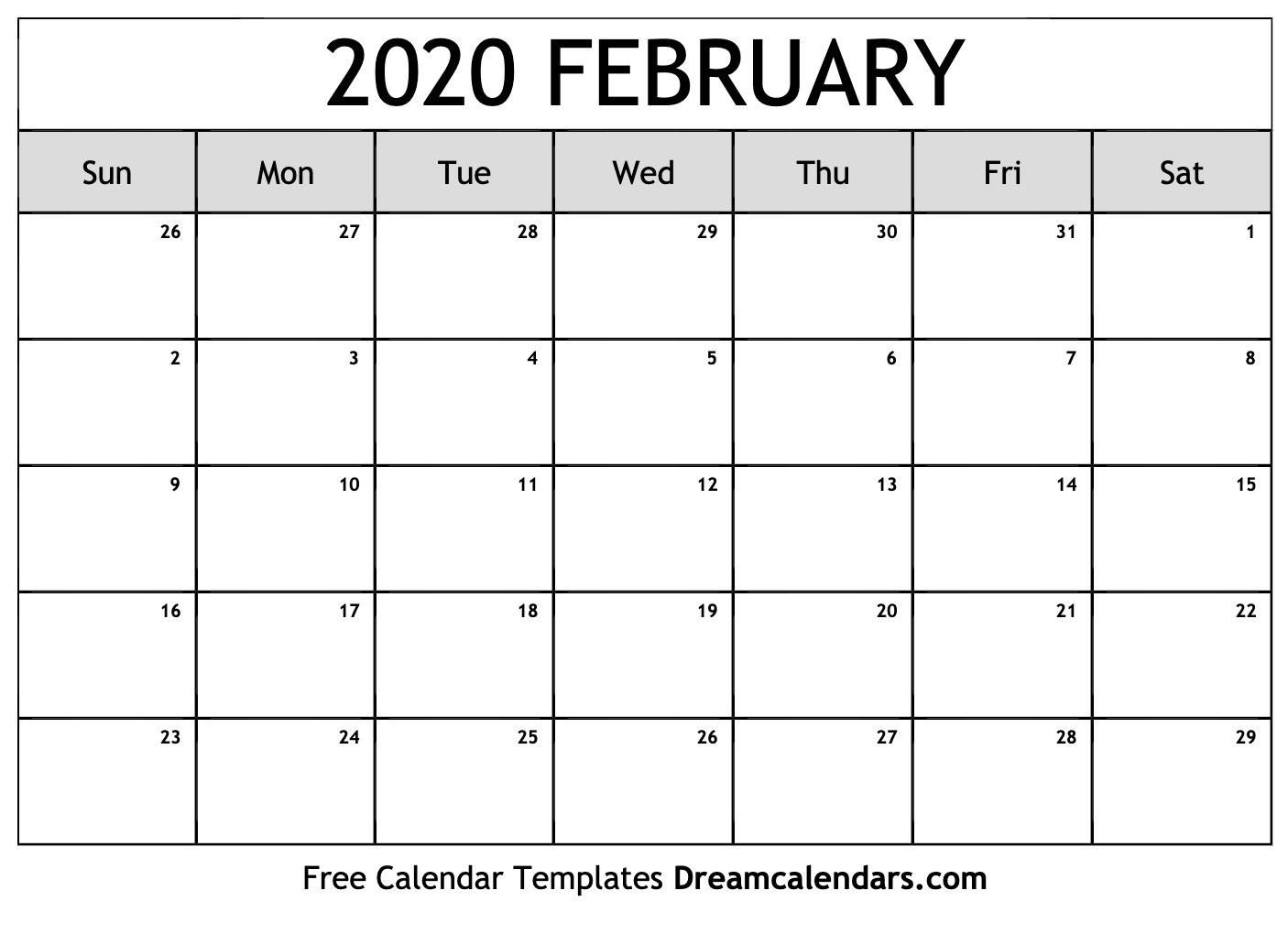 Printable February 2020 Calendar-January 2020 Calendar Printable Cute