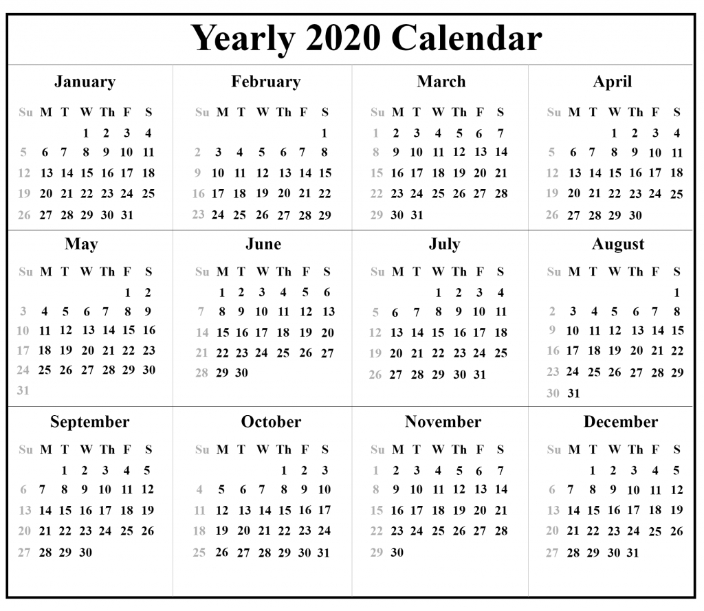 Key West Calendar January 2020