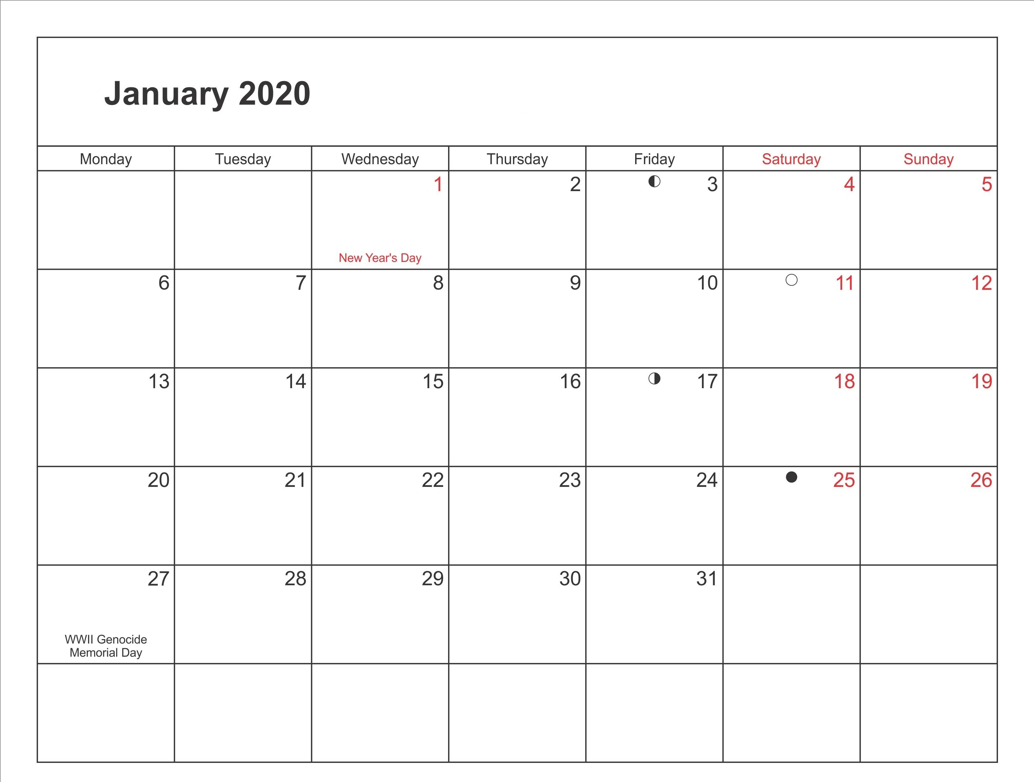 Printable January 2020 Calendar Canada-January 2020 Calendar Printable Wincalendar