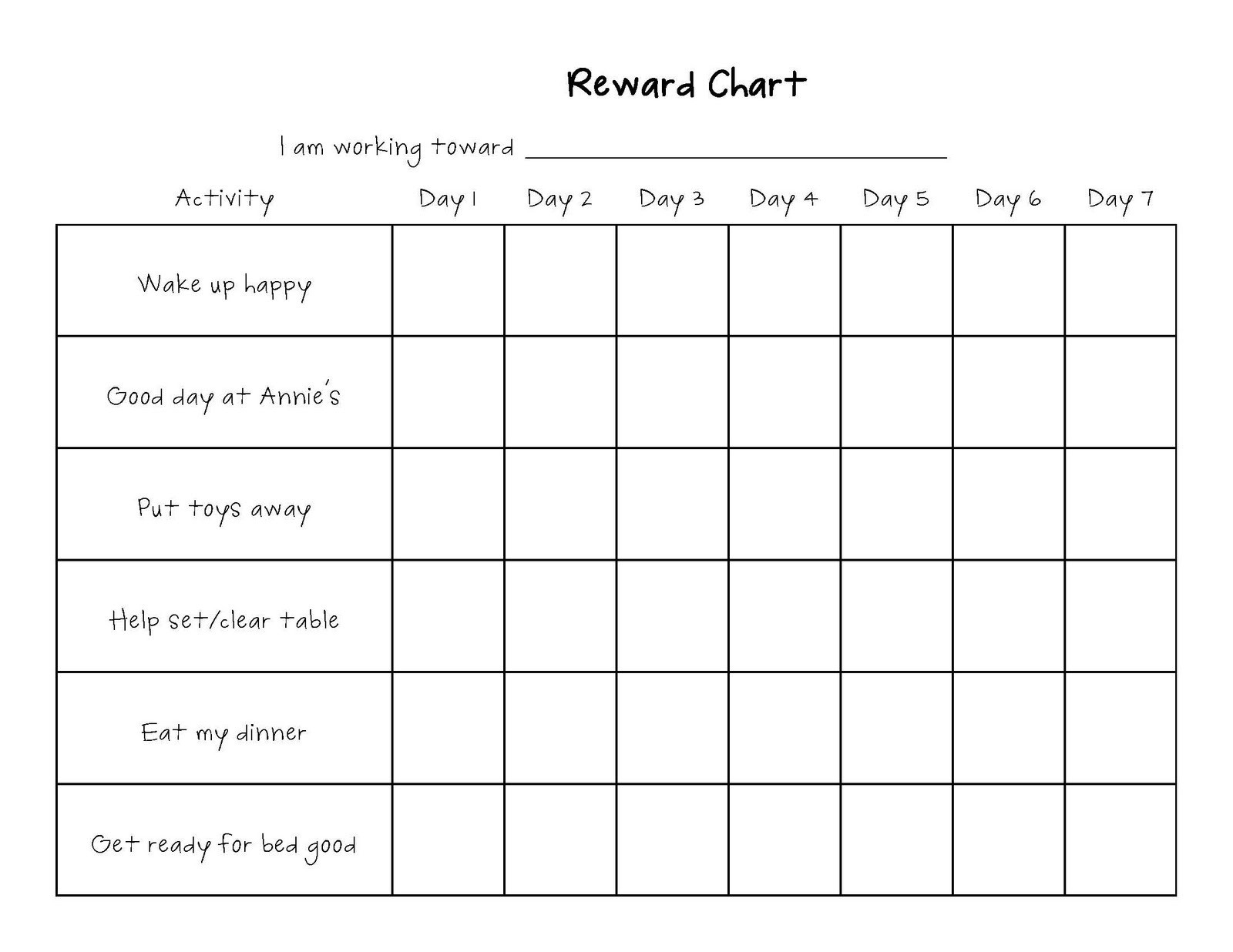 Printable Reward Charts For Kids | Activity Shelter-Editable Monthly Behavior Chart