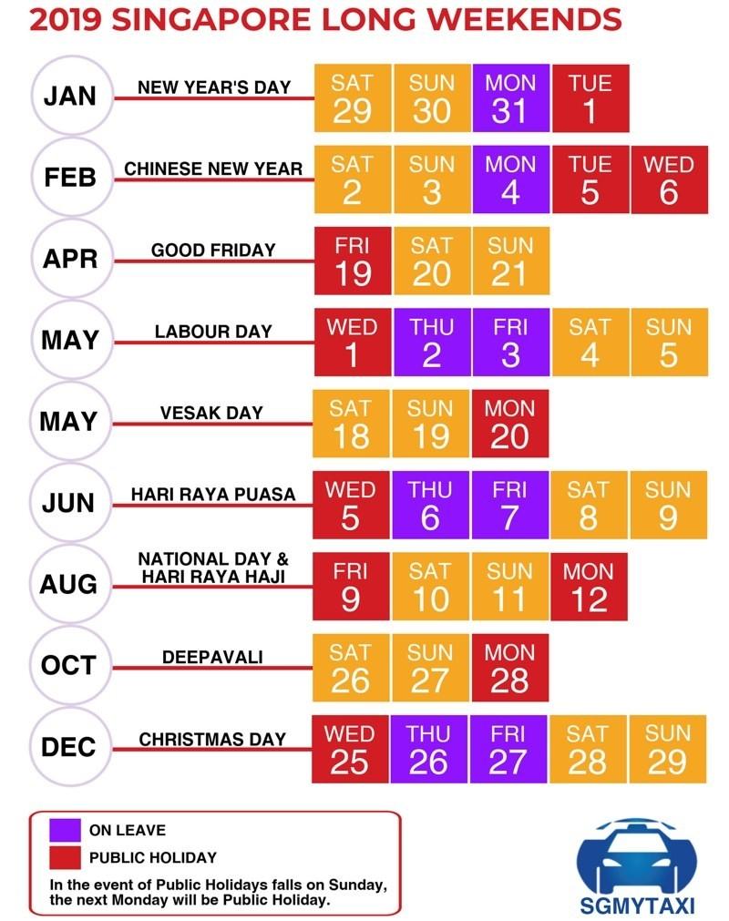 Public & School Holidays Singapore 2019 & 2020 (19 Long-Nz School Holidays 2020 Calendar