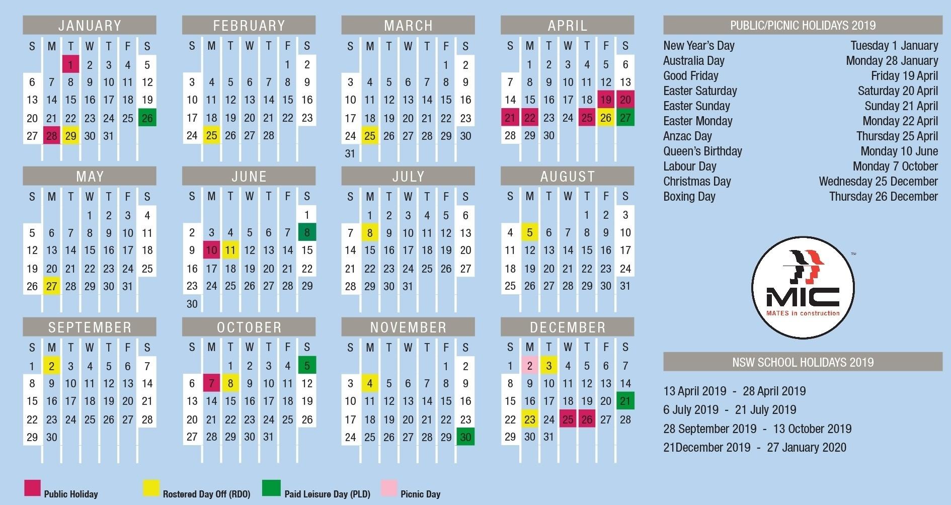Rdo Calendars Pertaining To Best Calendar 2020 December-January 2020 Calendar Nsw