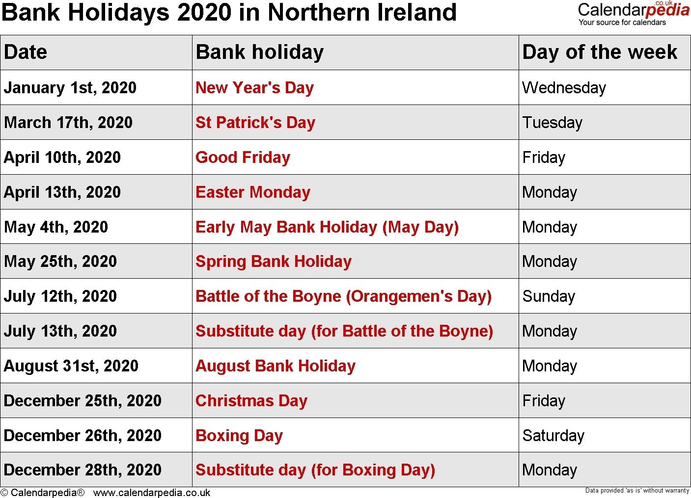 Remarkable 2020 Calendar List Of Holidays • Printable Blank-List Of Holidays 2020