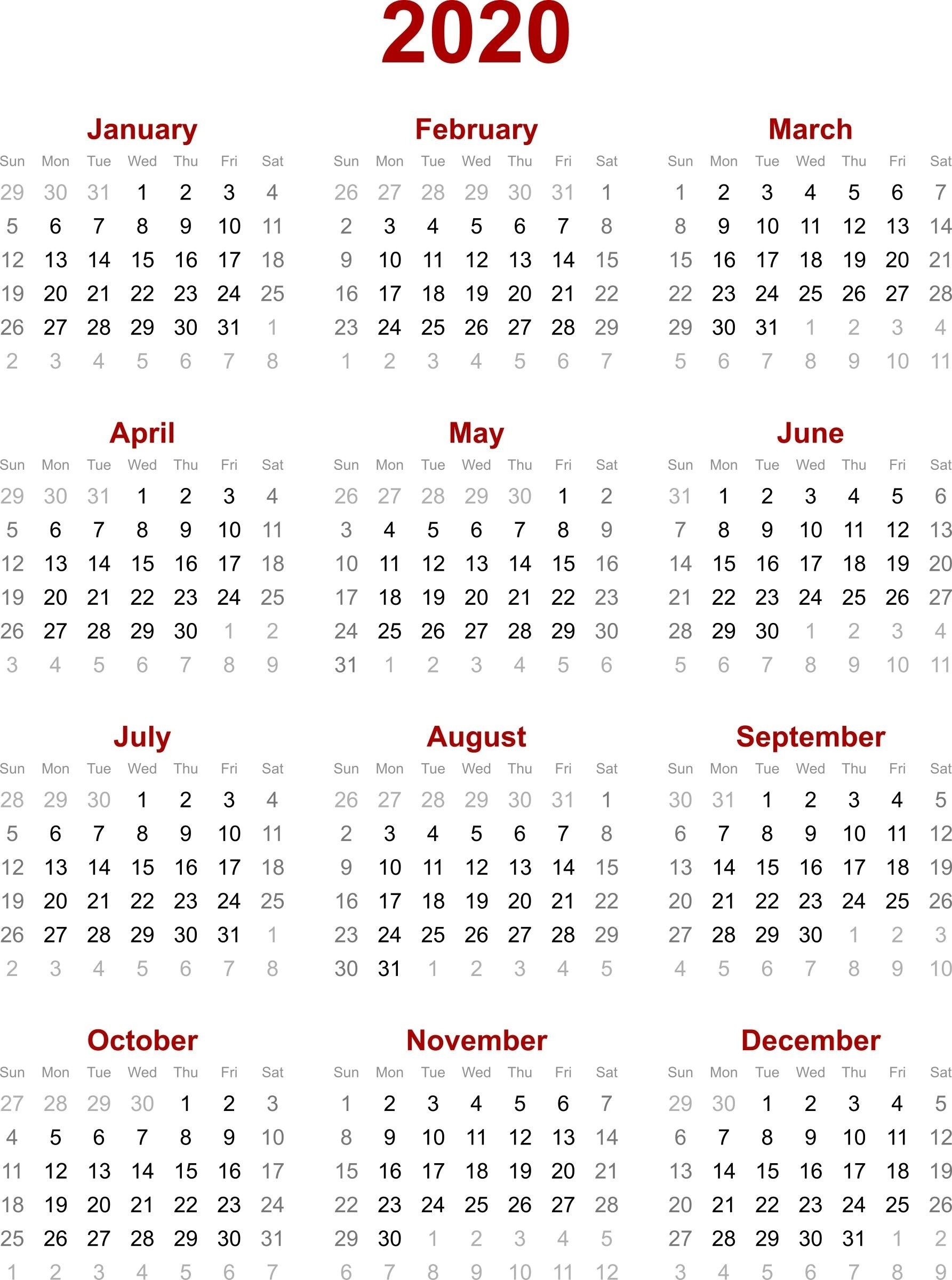 Remarkable 2020 Calendar Singapore Holiday • Printable Blank-Calendar Indicating The Holidays