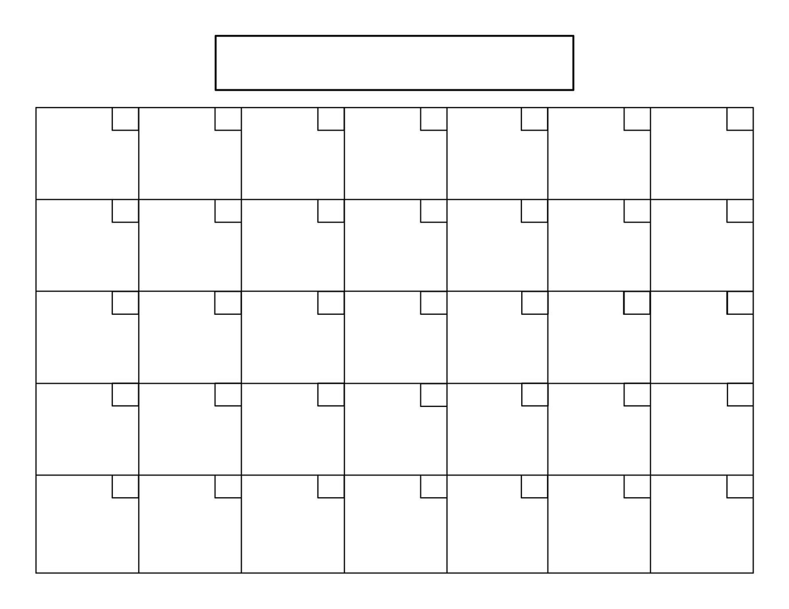 Remarkable Blank Calendar 31 Days • Printable Blank Calendar-A Blank Page Of 31 Days Of A Calendar