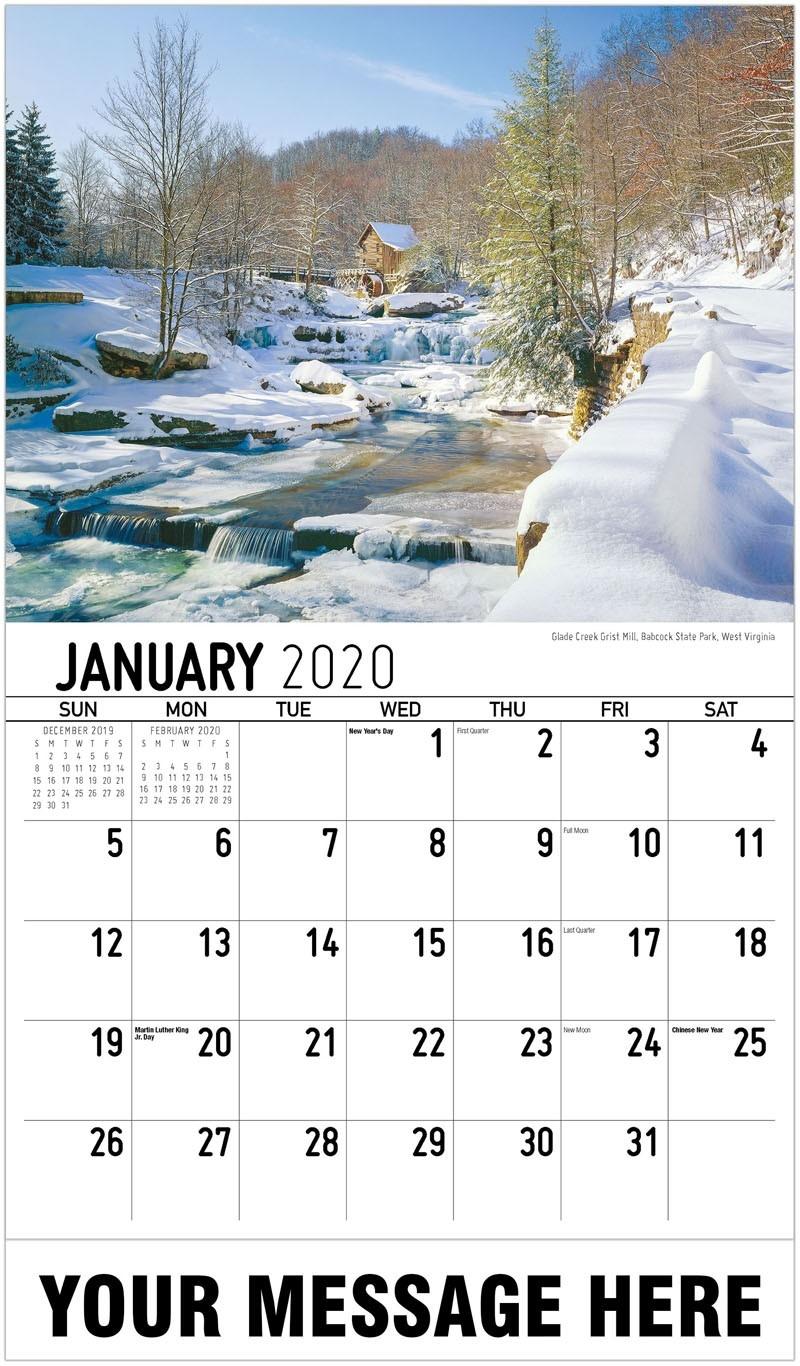 Scenes Of Southeast Usa-Key West Calendar January 2020
