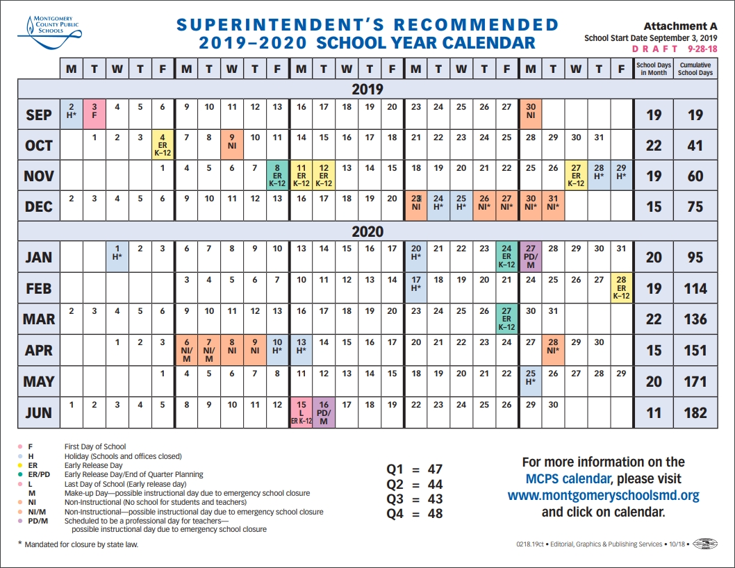 School Board To Vote On 2019-2020 School Year Calendar-January 2020 Jewish Calendar